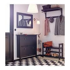 ikea hallway furniture. a hallway with shoe cabinet bench storage hat rack and mirror all in blackbrown i am buying of this for our entry thanks ikea furniture