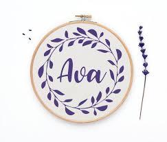 Ava Chart Ava Cross Stitch Pattern Girl Name Counted Chart Modern