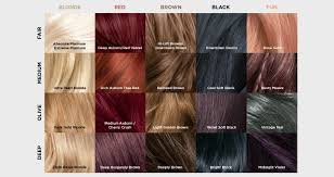 Dark Brown Red Hair Color Chart