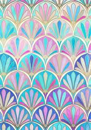 Art Patterns Beauteous Glamorous Twenties Art Deco Pastel Pattern Art Print By Micklyn