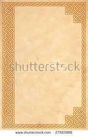 old book cover with traditional celtic border