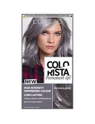 Semi Permanent Hair Dye Colour Chart Colorista Smokey Grey Permanent Hair Dye Gel Smokey Grey