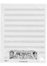 Manuscript Sheets Arc 10 Stave 50 Xerographic Pages