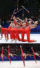 group rhythmic gymnasts from greece in sydney 2000