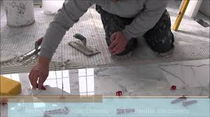 Bathroom Tile Installers 12x24 30x60 Marble Tile Installation Using Perfect Level