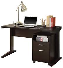 casual cappuccino computer desk with open shelf drawer rolling file cabinet