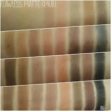 swatches makeup revolution ultra 32 eyeshadow palette flawless matte oogschaduw 9 95