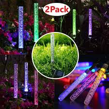 Color Changing Solar Lights Walmart Outdoor Solar Led Rgb Crystal Bubble Tube Lights Garden