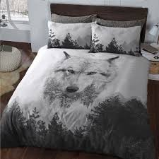 wolf 3d animal print forest duvet cover bedding with pillowcase double 289201 p5654 15405 image jpg