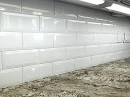 beveled subway tile backsplash white ceramic in kitchen view more at