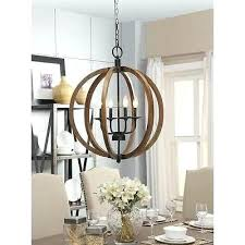wood orb light orb chandelier rustic wood and metal 4 light round hanging fixture free