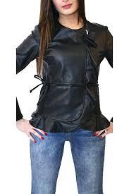 fake leather jacket black biker model faux womens zara