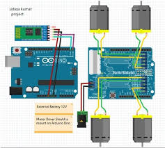 voice activated robot 5 steps picture of circuit diagram of voice controlled robot using arduino
