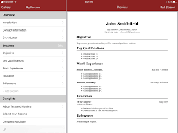 Magnificent Resume App For Ipad Ensign Documentation Template