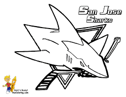 San Jose Sharks Coloring Page Check