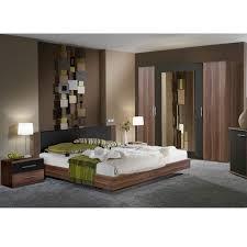 Schlafzimmerset Tinius 4 Teilig Nussbaumschwarz Set Mit Bett