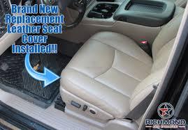 2003 2007 gmc sierra slt sle z71 leather seat cover driver bottom tan
