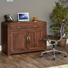 hidden home office. Walnut Hidden Home Office Unit