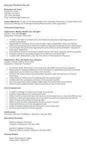 Pharmacist Resume Sample Pharmacist Resume Example Lovely Pharmacist ...