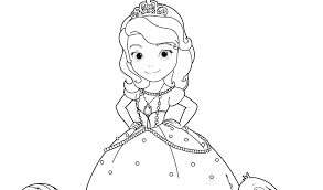 Sofia The First Coloring Pages Mermaid The First Coloring Pages Free