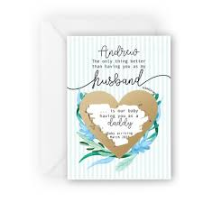 Baby Announcement Cards Pregnancy Announcement Scratch Card For Husband Having A Baby Reveal Idea Ebay