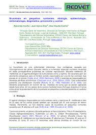 Brucelosis En Peque Os Rumiantes Etiol Gia Epidemiolog A