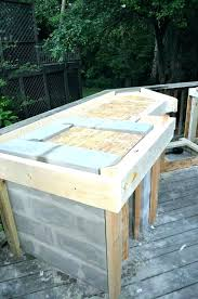 how to build an outdoor kitchen how to build outdoor kitchen an with wood frame info