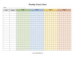 Family Calendar Chore Chart Printable Family Monthly Chore Chart By Week