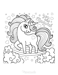 Kids colour in unicorn to print. 75 Magical Unicorn Coloring Pages For Kids Adults Free Printables