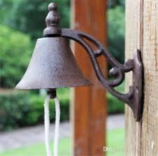 cast iron welcome dinner bell wall
