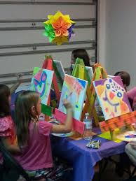 owl art 8 year old birthday party
