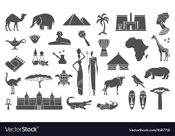 Traditional Symbols Traditional Symbols Of Africa Royalty Free Vector Image