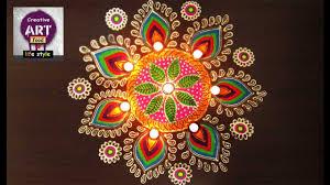 Rangoli Art Designs For Diwali Easy Rangoli Art With Creativity