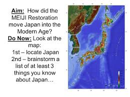Aim How Did The Meiji Restoration Move Japan Into The