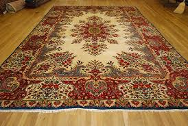 place the rug face up sweep with a broom if needed
