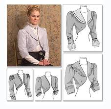 Bolero Jacket Pattern Best VICTORIAN JACKET PATTERN Steampunk Jacket Pattern Evening Bolero