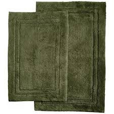 lenox platinum bath mat solid dark green forest bamboo