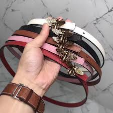 Dior Woman Thin Leather Belt D Bee Design In 2019 Belts