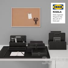 table set ikea rissla box set of 3 desk organizer file