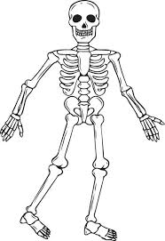Small Picture Skeleton Coloring Sheets For Kids Fun for Halloween