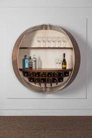 a wall mounted bar cabinet inspired by