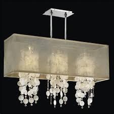 rectangular shade chandelier capiz shell and crystal