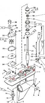 have a 09 mercury 90 hp elpto 2 stroke motor that wasnt winterized 2003 Yamaha 90 Hp Outboard Diagrams here is a diagram of the gear case bolt location graphic 2003 yamaha 90 hp outboard manual