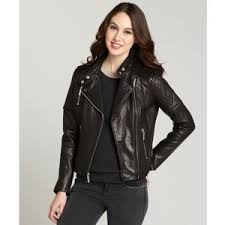 Wyatt Black quilted leather padded shoulder moto jacket - Polyvore & Wyatt Black quilted leather padded shoulder moto jacket Adamdwight.com