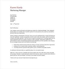 General Cover Letter For Resume 17 Marketing Manager Pdf Free