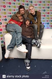 Radio 1 Chart Show Mcfly At The The Bbc Radio 1 Chart Show Live Stock Photos