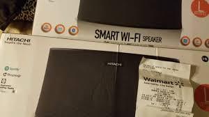 hitachi wifi speaker. 6 11 17 hitachi smart wifi speaker on the cheap walmart.