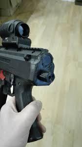3d printed scorpion evo stock adaptor