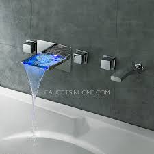 end waterfall wall mount bathtub faucet