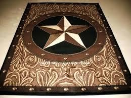 texas star rug x star western rustic cowboy brown black decor area rug rustic texas star